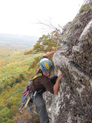 Rock Climbing Photo: Finishing up P3 of V3