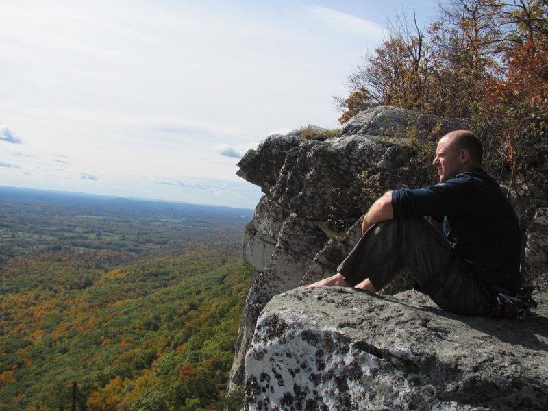 Me atop CCK and enjoying the autumn colors