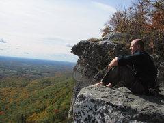 Rock Climbing Photo: Me atop CCK and enjoying the autumn colors