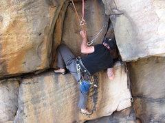 Rock Climbing Photo: Pulling the crux on Dreamtime at Junkyard Wall