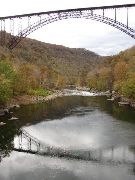 The bridge over the New