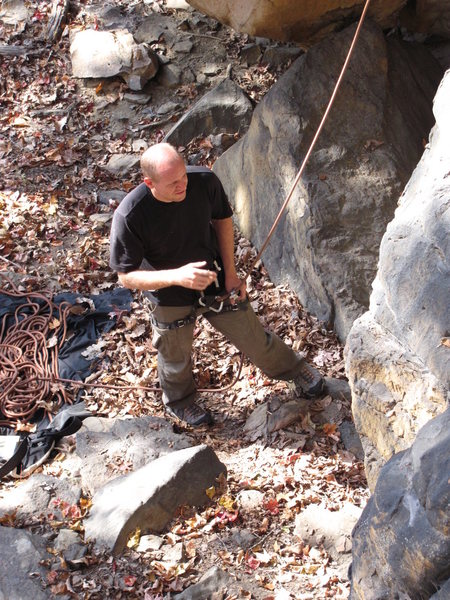 Rock Climbing Photo: Me spotting / belaying