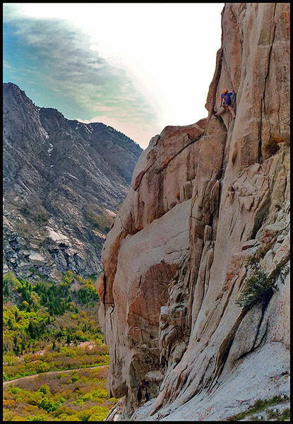 Rock Climbing Photo: Jonathan catching a break on top of the twin hand ...