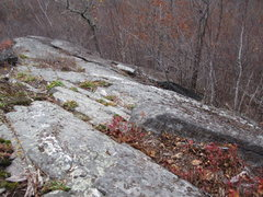 Rock Climbing Photo: lower section of Climber's Trail.