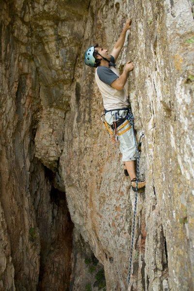 Rock Climbing Photo: easy climbing, good holds.