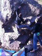 Rock Climbing Photo: Aaron crushing it.