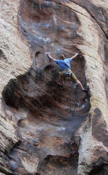 Rock Climbing Photo: Dan Schwarz on Mulva 5.11
