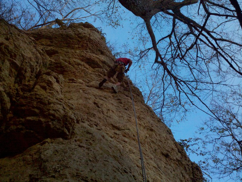 Rock Climbing Photo: Rappelling on HomeRun