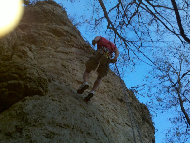 Rock Climbing Photo: Rappelling on HomeRun
