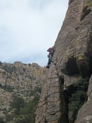 Rock Climbing Photo: Nearing the top.