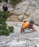 Rock Climbing Photo: First half of pitch 1.