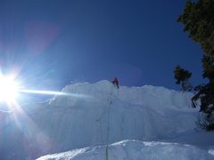 Pete Lardy completing the last pitch on the headwall.