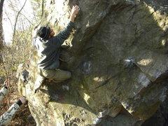 Rock Climbing Photo: Ben getting after it.