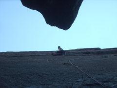 Rock Climbing Photo: Callum scrambles it like an egg.