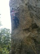 Me climbing the Prow