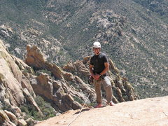Rock Climbing Photo: Topping out on Whale Dome, Cochise Stronghold