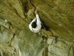Rock Climbing Photo: Attempting the lead...