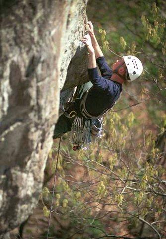 Rock Climbing Photo: Dave S. climbing MF