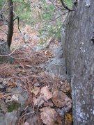Rock Climbing Photo: Looking down the 'Dirtiest Climb' corner crack.