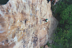 Rock Climbing Photo: Hanging from Yellow Wall, Trapps