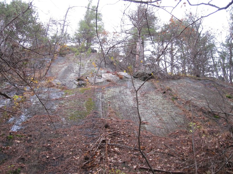 Rock Climbing Photo: The big slab. Kindling goes up directly left of th...
