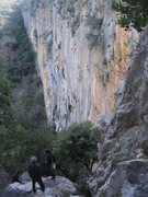 Rock Climbing Photo: The sector Cennet as seen from the top of the hill...