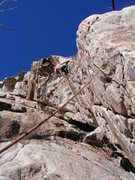 Rock Climbing Photo: A perspective of the overhanging nature of the lin...