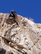 Rock Climbing Photo: The final move.
