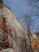Rock Climbing Photo: Matt Murry high up.