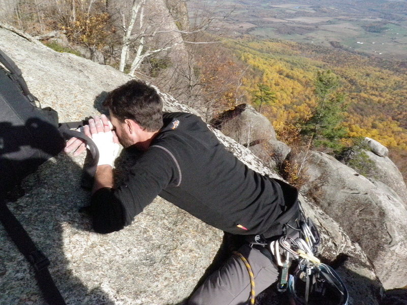 Matt Wikswo at the end of the awesomeness/suffering that is the dihedral.