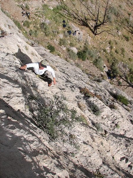 Rock Climbing Photo: Zane nearing the top.