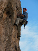 "Rock Climbing Photo: ""Hope this flake doesn't come off...""  P..."