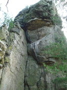 Rock Climbing Photo: top of Right Face.  looking at Overlook