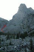 Rock Climbing Photo: Just below Wells Creek drainage.
