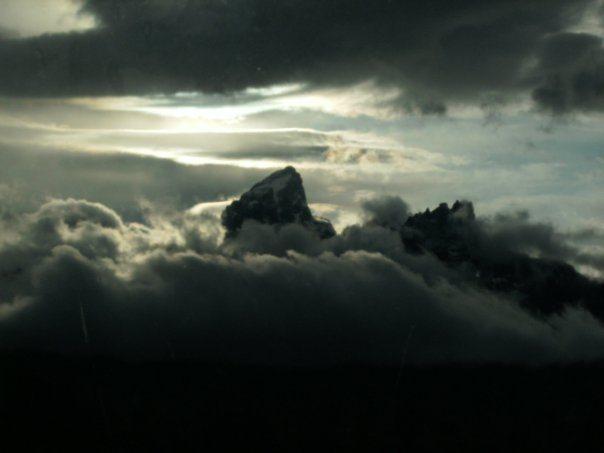 Peaking thru the clouds. Copyright Kaidi Raney