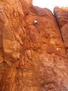 Rock Climbing Photo: Andrew working up Neptune