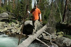 Rock Climbing Photo: Crossing river in Three Forks Park area