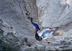 Rock Climbing Photo: Rusty Baillie leads the spectacular third pitch of...