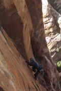 Rock Climbing Photo: Finishing up pitch 2