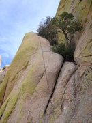 "Rock Climbing Photo: Third pitch, ""Mystery of the Desert"""