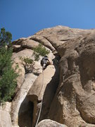 "Rock Climbing Photo: Leading up the first pitch of ""Moby Dick&quot..."