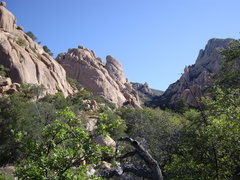 Rock Climbing Photo: Looking down the beautiful canyon on the approach ...