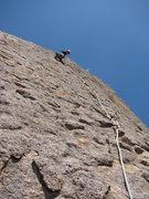 "Rock Climbing Photo: Climbing the amazingly fun final face of ""Mob..."