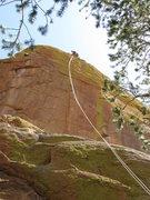 Rock Climbing Photo: Getting ready for the (very) airy rappel off Whale...