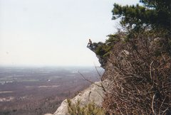 Rock Climbing Photo: Dan T. enjoying the view (and making my palms swea...