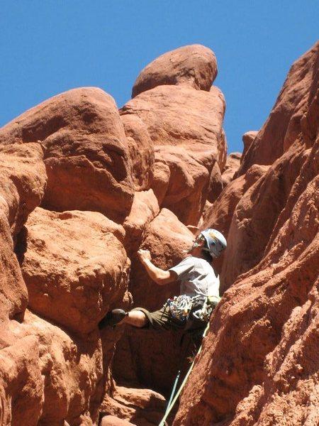 Rock Climbing Photo: Climbing the second pitch of Ancient Art