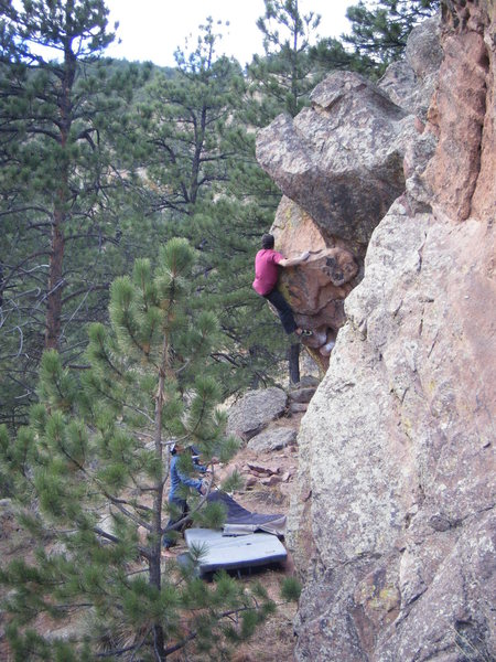 Rock Climbing Photo: Said into highball territory on The Great Escape.