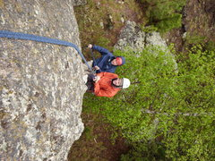 Rock Climbing Photo: Practicing the Tandem Rappel