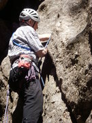Rock Climbing Photo: Peter, rock climbing legend extraordinaire leading...