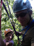 Rock Climbing Photo: My Daughter and I tandem rappelling at Peter's Kil...